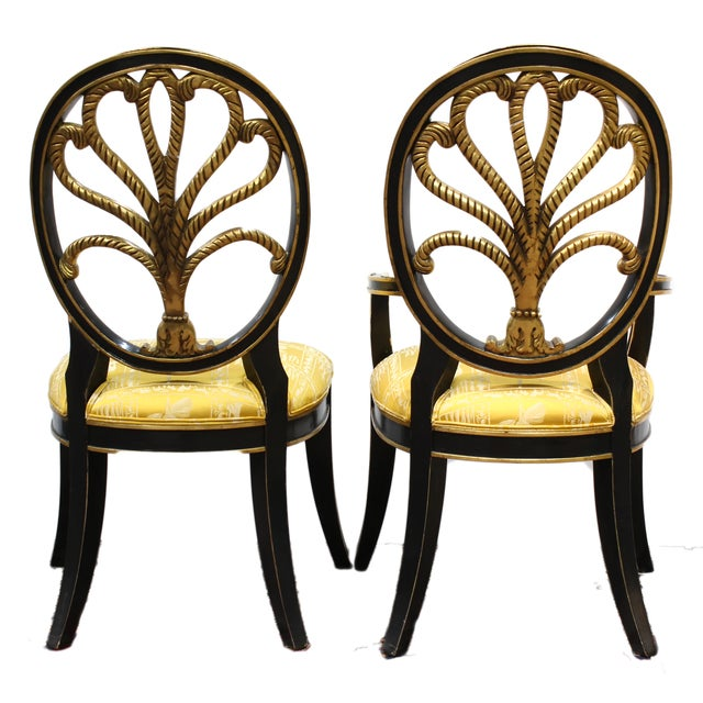 Hollywood Regency Elephant Motif Chairs - Set of 8 - Image 3 of 6
