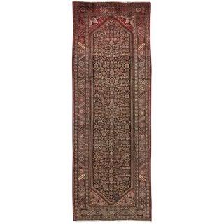 """Vintage Hamadan Wool Area Rug - 3'7"""" X 10'8"""""""