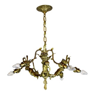 6 Light Decorative Cherub Fixture, Mid 1930s.