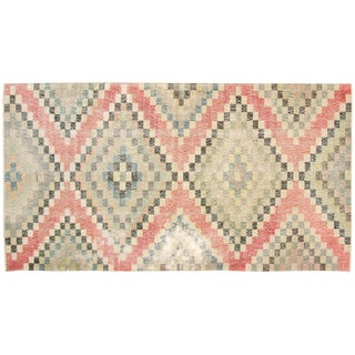 "Turkish Art Deco Rug - 3'11"" x 7'2"""