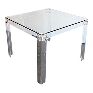 Mid-Century Lucite & Glass Dining Table