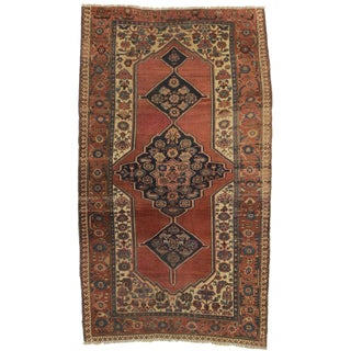 RugsinDallas Antique Hand Knotted Wool Persian Bijar Rug - 5' X 8'6""