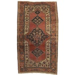 Image of RugsinDallas Antique Hand Knotted Wool Persian Bijar Rug - 5' X 8'6""
