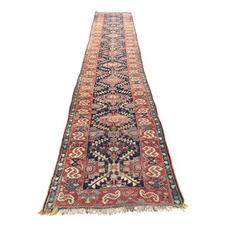 "Antique Shahsavan Persian Runner - 3'5"" x 17'5"""