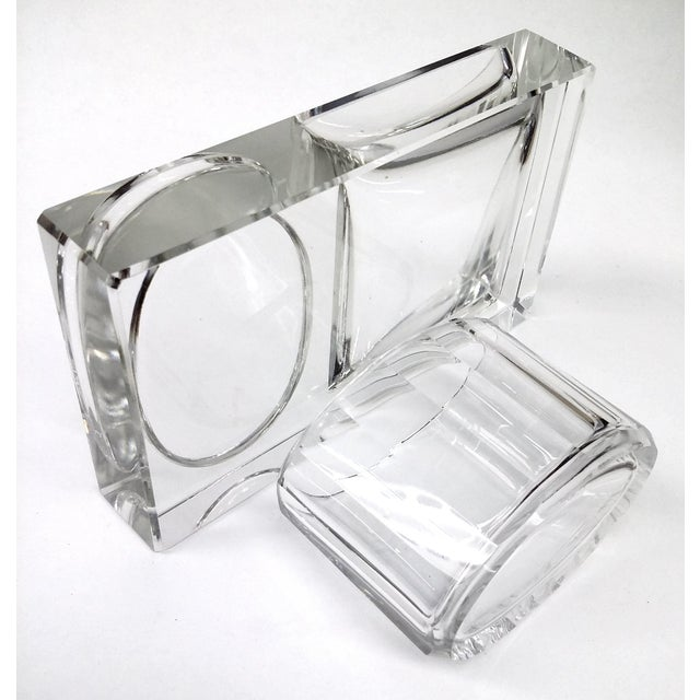 Crystal Art Deco Cigarette Ashtray - 2 Pieces - Image 11 of 11
