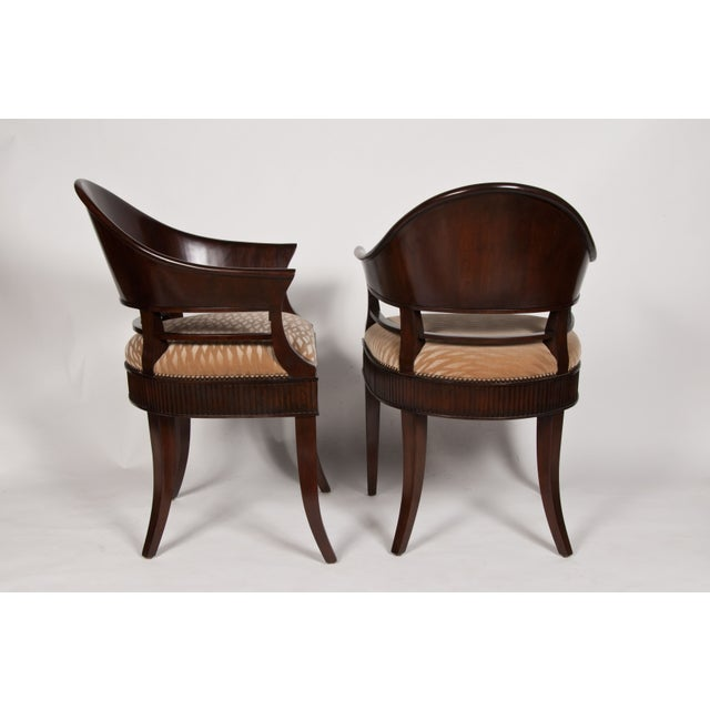 Image of Solid Mazzard James Jennings Chairs - Pair of 2