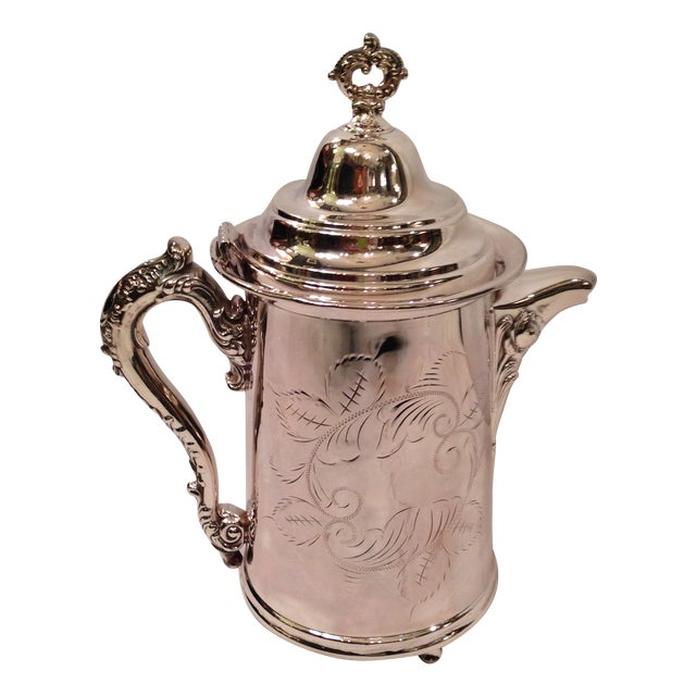 Vintage Silver Plate Footed Coffee Pot - Image 1 of 6