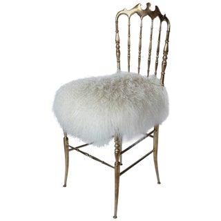 1960s Italian Brass Chair by Chiavari