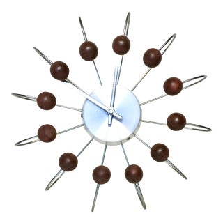 Mid-Century Atomic Ball Wall Clock