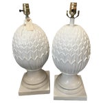 Image of White Palm Beach Pineapple Table Lamps - A Pair