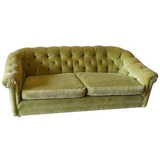 Mid Century Chesterfield Velvet Sofa