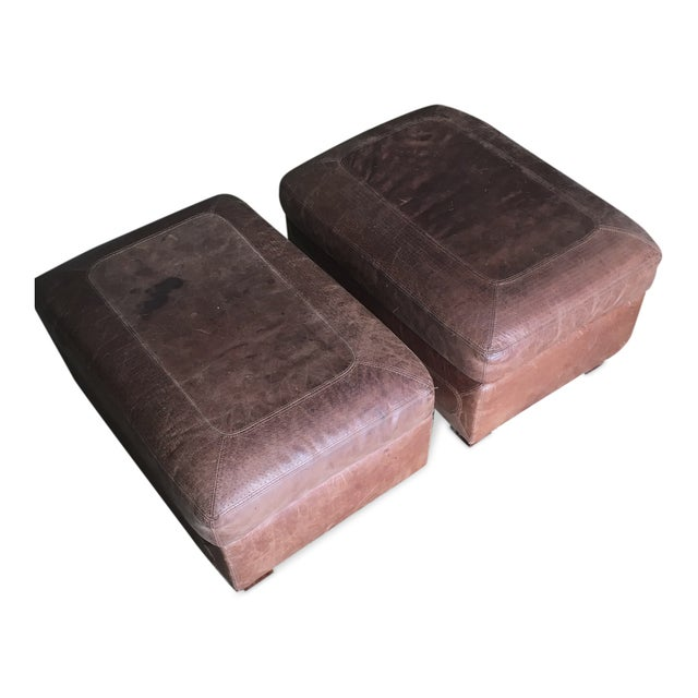 Image of Stickley Santa Fe Ottomans - A Pair