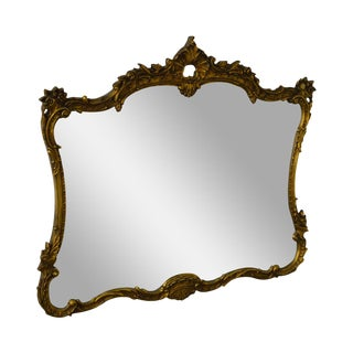 Vintage French Louis XV Style Gilt Wall Mirror