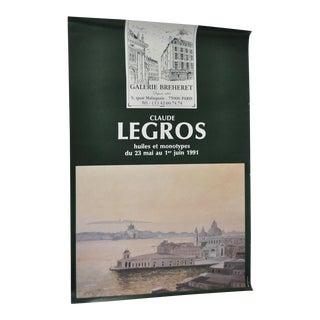 "Vintage Claude LEGROS Exhibition Poster ""Monotypes"" Circa 1991"