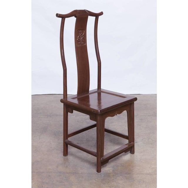 Image of Chinese Yoke Back Officials Hat Chairs - Set of 6