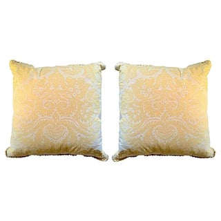 Yellow Fortuny Pillows - A Pair
