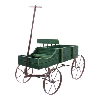 Vintage French Style Wagon Planter