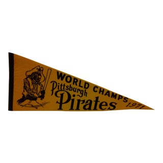 1971 Vintage MLB Pittsburgh Pirates World Champs Team Pennant