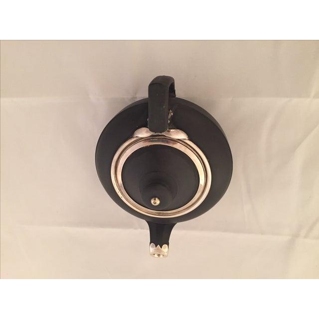 Wedgwood Sterling Silver & Black Basalt Teapot - Image 5 of 7