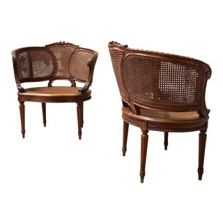 Louis XVI Style Double Cane Chairs - A Pair