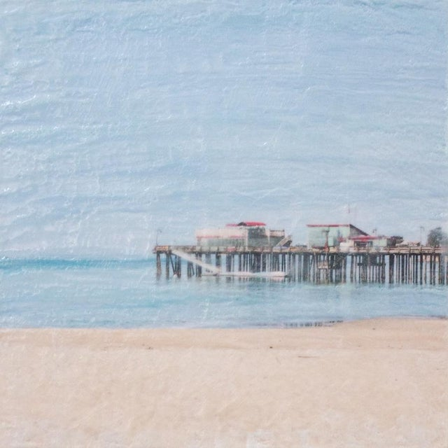 Image of Capitola Morning - Photo Encaustic Painting