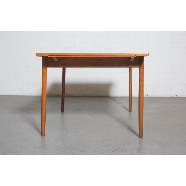 Mid-Century Carved Teak Dining Table - Image 4 of 9