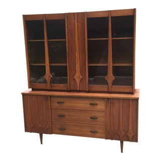 Mid-Century Sculpted China Cabinet
