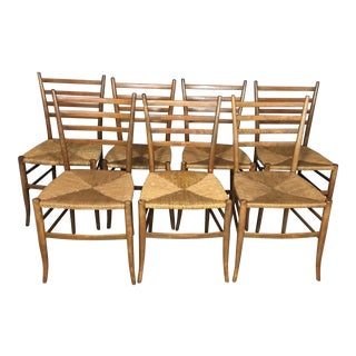 Italian Gio Ponti Style Dining Chairs - Set of 7