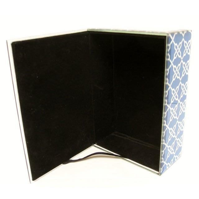 Blue & White Fabric & Glass Box - Image 5 of 5