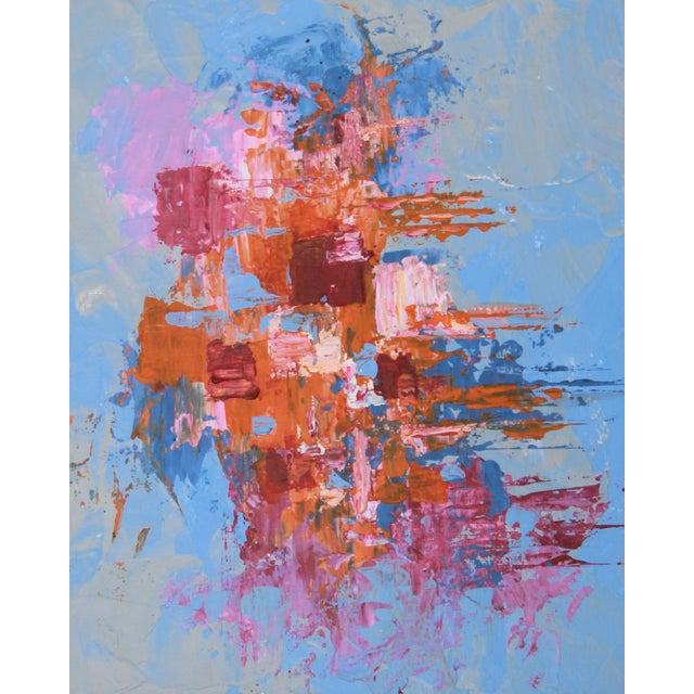 """C. Plowden """"Box Arrangement #4"""" Abstract Painting - Image 2 of 2"""