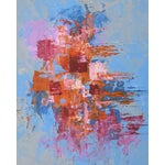"""Image of C. Plowden """"Box Arrangement #4"""" Abstract Painting"""