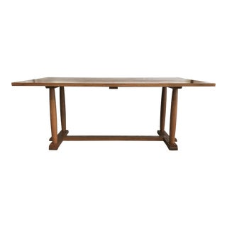 Mid-Century Modern Solid Oak Refectory / Dining Table