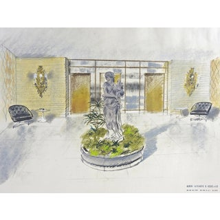 1950s Hollywood Regency Architectural Rendering