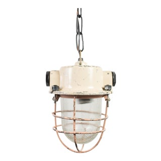 Soviet Era Industrial Pendant Light Fixture