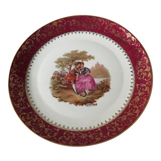 Vintage Limoges Porcelain Decorated Plate
