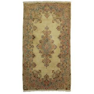 "Antique Persian Wool Kerman Rug - 4'1"" X 7'7"""