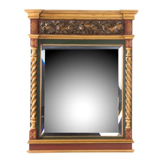 Classical Painted Parcel-Gilt Mirror