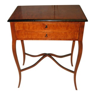 Biedermeier Fruitwood Sewing Table