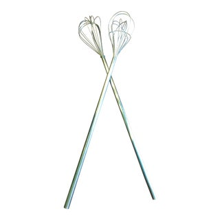 Vintage Industrial Kitchen Whisks - A Pair