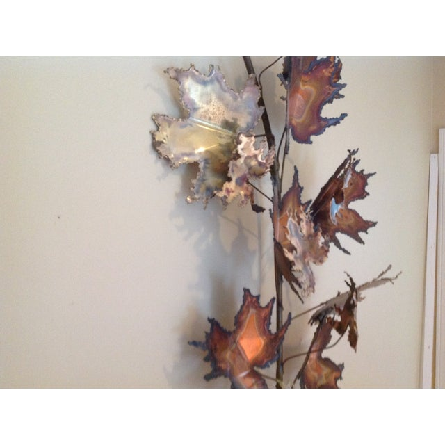 Image of C Jere Brass Autumn Leaves Wall Sculpture, 1971