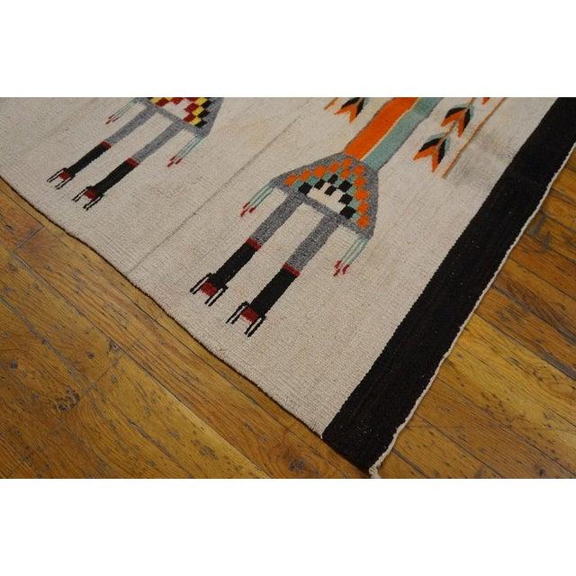Antique Navajo Style Kilim Rug - 3′7″ × 5′ - Image 2 of 4