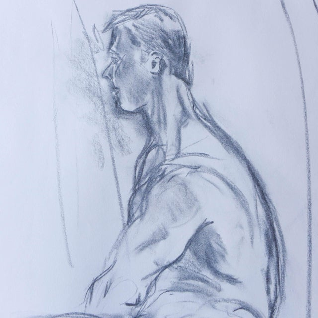 Paul Nude Model Drawing - Image 2 of 3