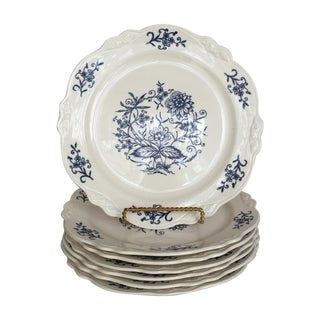 Blue Dresden Plates - Set of 7