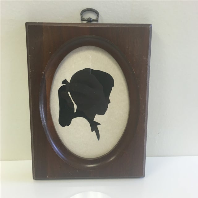 Original Vintage Girl With Ponytail Silhouette - Image 2 of 8