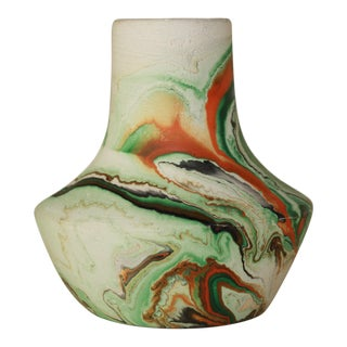 Orange & Green Nemadji Vase