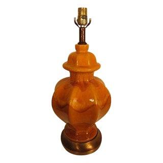 Mid-Century Danish Drip Glaze Lamp