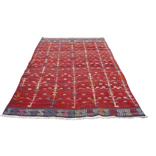 Vintage Turkish Kilim Rug - 5′6″ × 9′6″