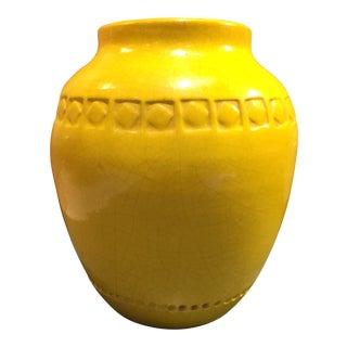 Yellow Italian Bitossi Urn Style Vase