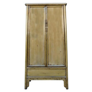 Tall Chinese Armoire in Light Mustard