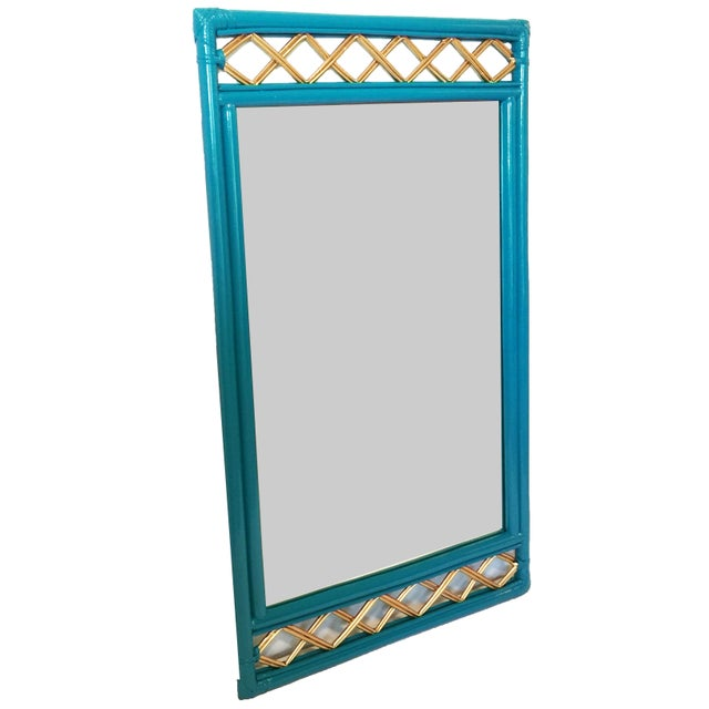 Vintage Ficks Reed Rattan Mirror - Image 3 of 7